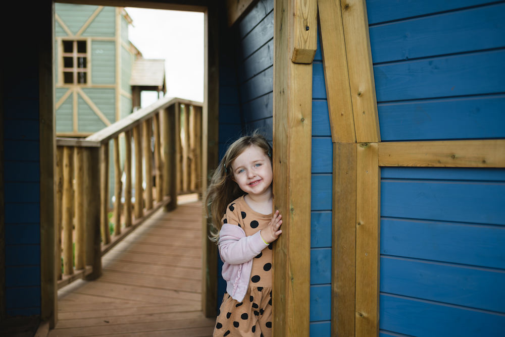 Plenty of places to explore with the water mill behind at Newhailes adventure play by CAP.Co