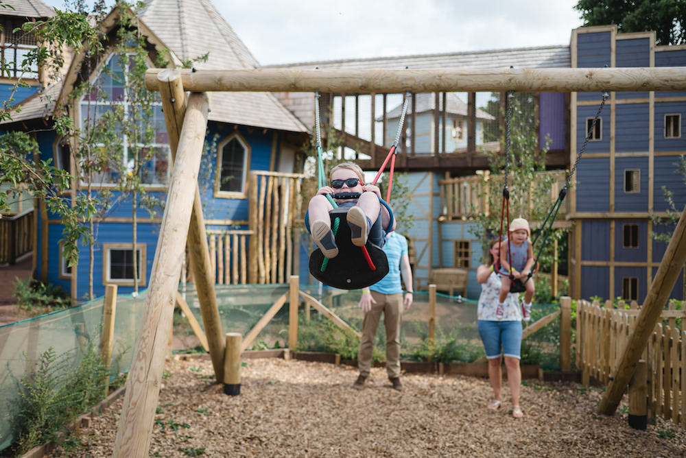 Toddler swings at Newhailes adventure play by CAP.Co