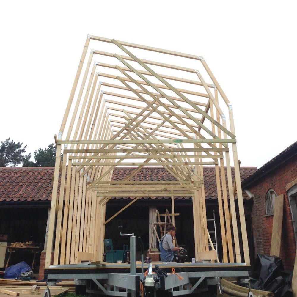 The tiny house frame has been completed