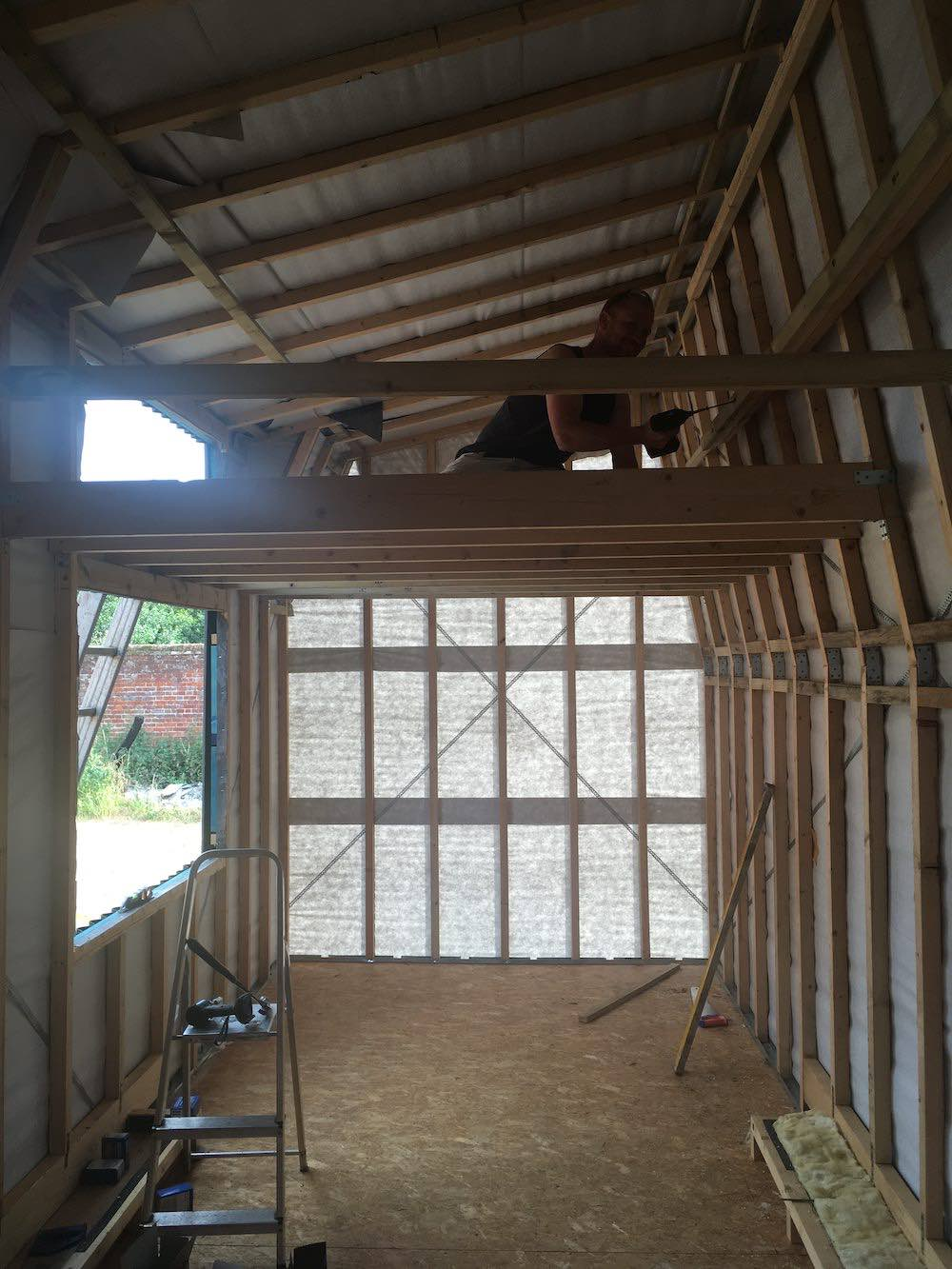 On the inside you begin to see the scale of the project and they space they have created within the tiny house