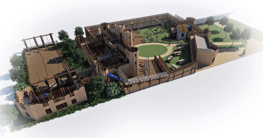 Leeds Castle Adventure Play rear side view