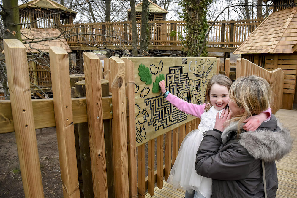 The Sky Maze at Fort Douglas Dalkeith Country Park by CAP.Co is better tackled together