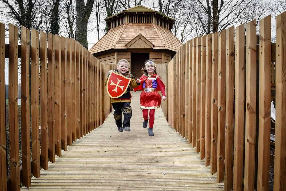 Its all adventure play fun at the adventure play at Fort Douglas Dalkeith Country Park by CAP.Co
