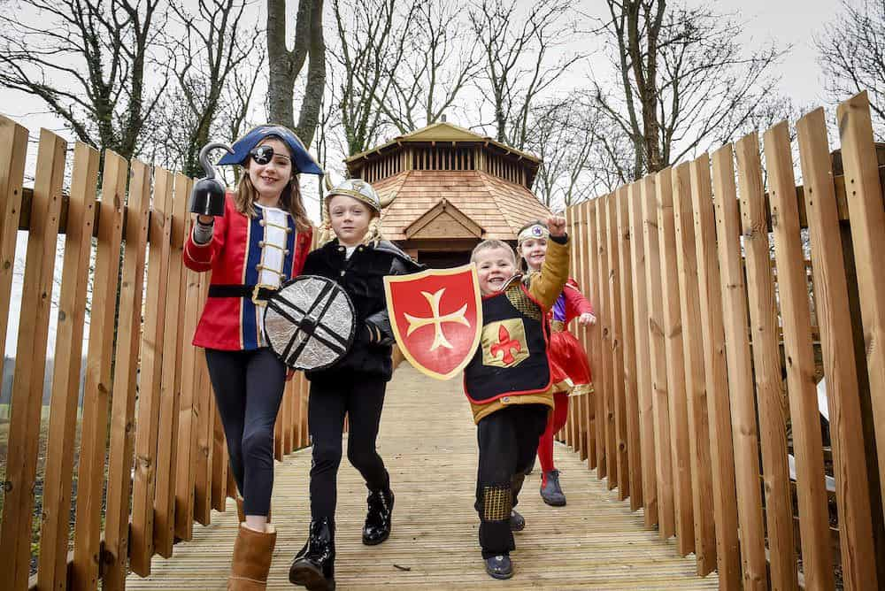 Kids enjoying the adventure play at Fort Douglas Dalkeith Country Park by CAP.Co_