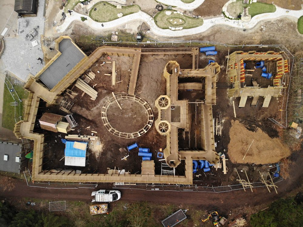 Leeds castle Knights Stronghold in build from above