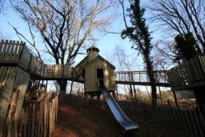 The slide from the Ice House in the Wild Woodland