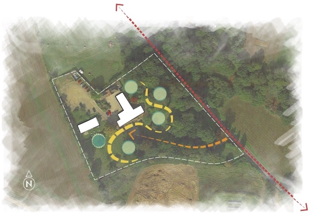 Rough layout of play for Scarborough Hill Country Hotel