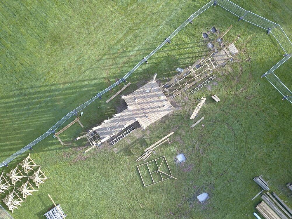Crieff Hydro Adventure play in build aerial shot progress