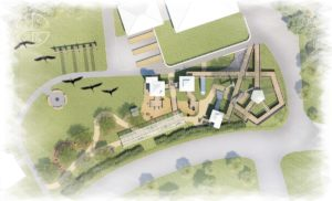 Aerial view of the planned accessible play at Boundless