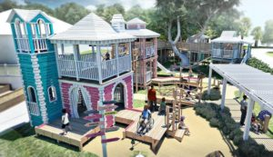 Another view of the drawing showing the completed play area