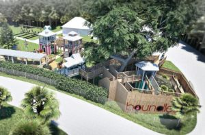 The drawing showing the finished play area