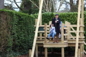 The zip wire was proving very popular at Little Beaulieu