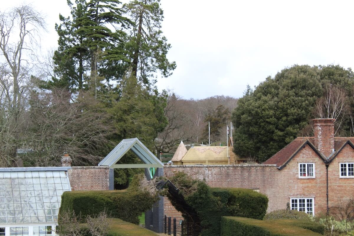 As you peep over the walls of the walled garden you see Little Beaulieu