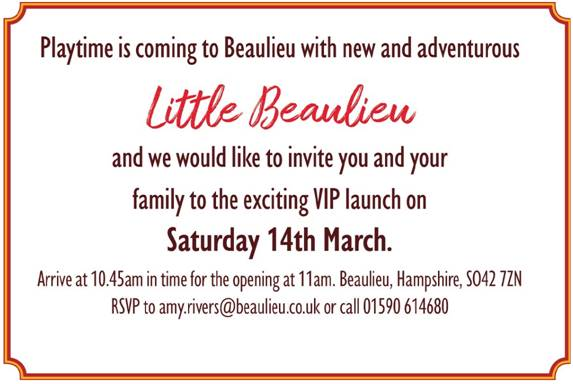 Little Beaulieu opening invitation