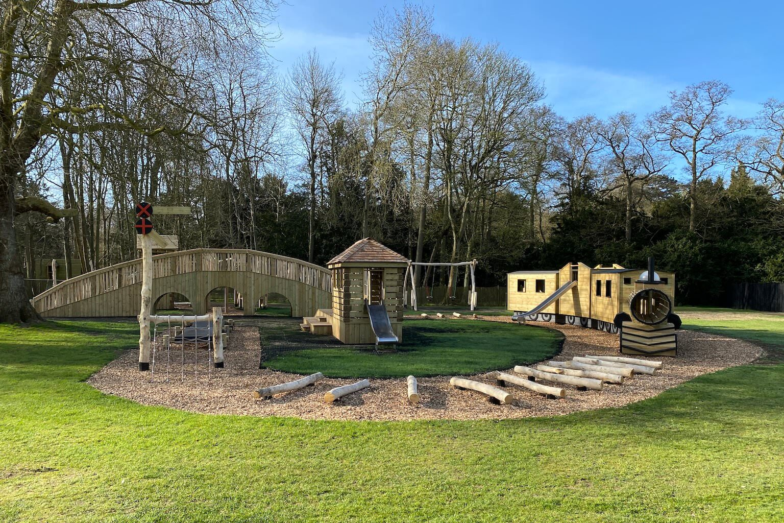 The new adventure play at Audley End Miniature Railway