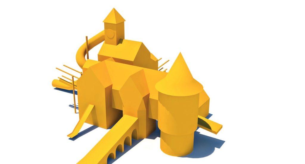Block model of the Clock Tower from Little Beaulieu