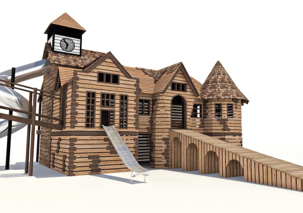 Initial CGI of the Clock Tower at Little Beaulieu
