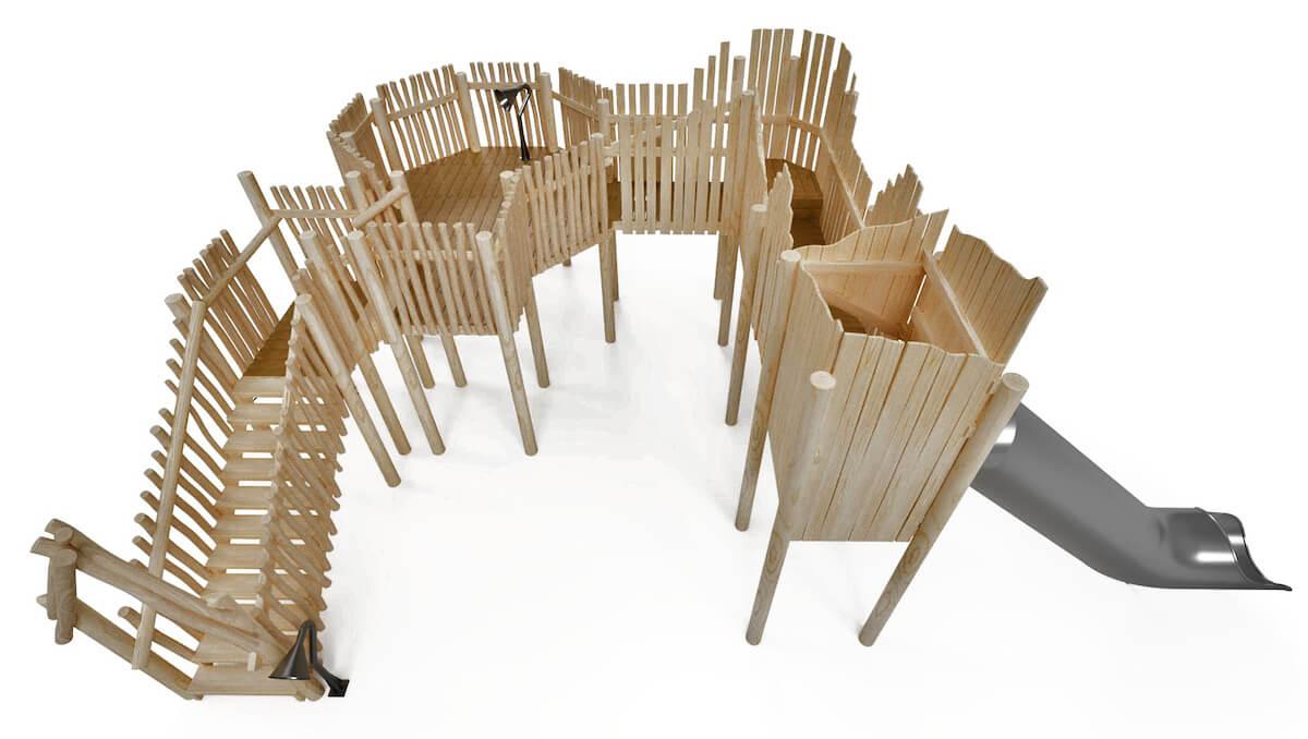 Mundesley School Secret Treehouse adventure play Design CGI