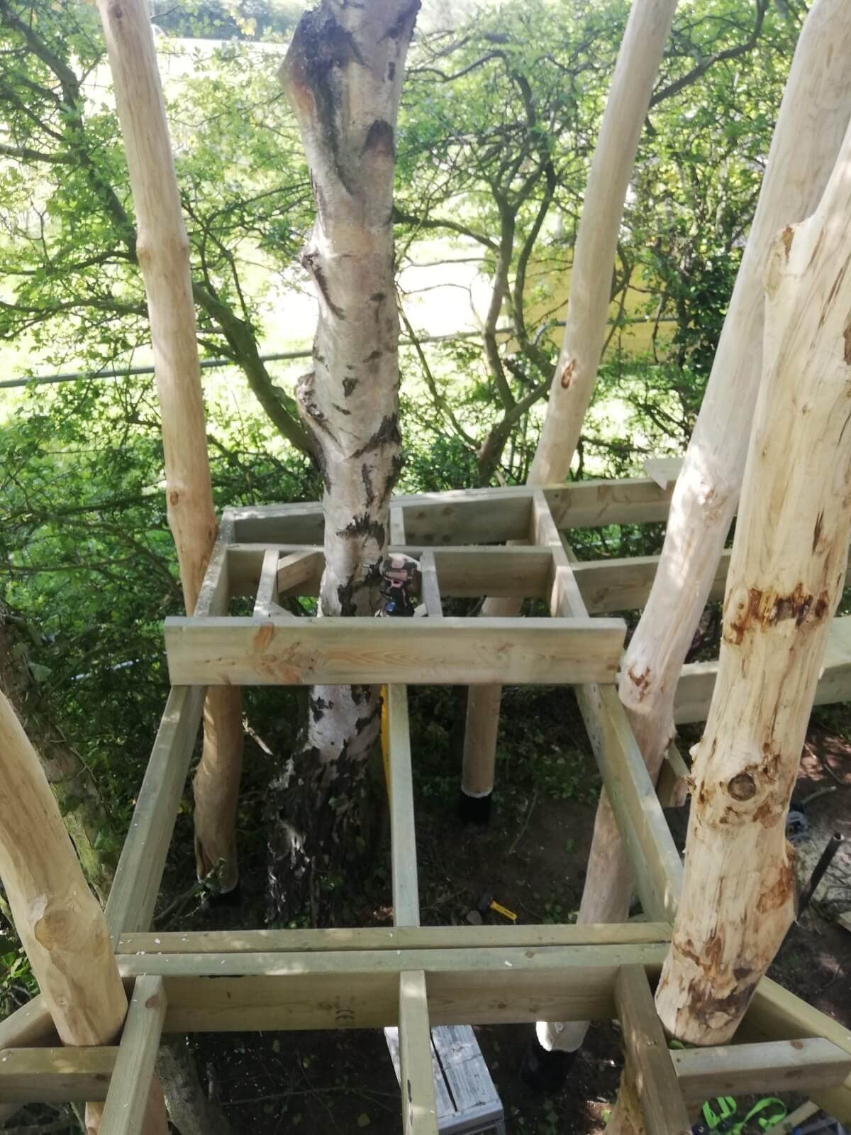 Mundesley School Secret Treehouse adventure play construction 1