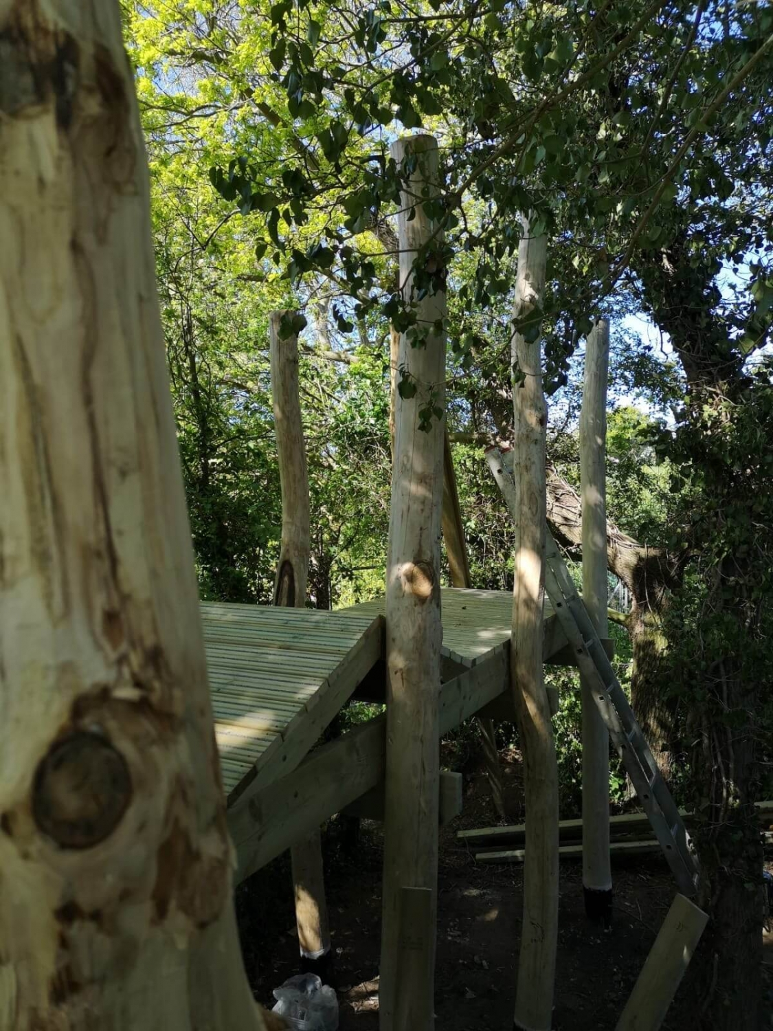 Mundesley School Secret Treehouse adventure play construction 4