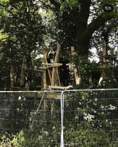 Mundesley School Secret Treehouse adventure play construction 5