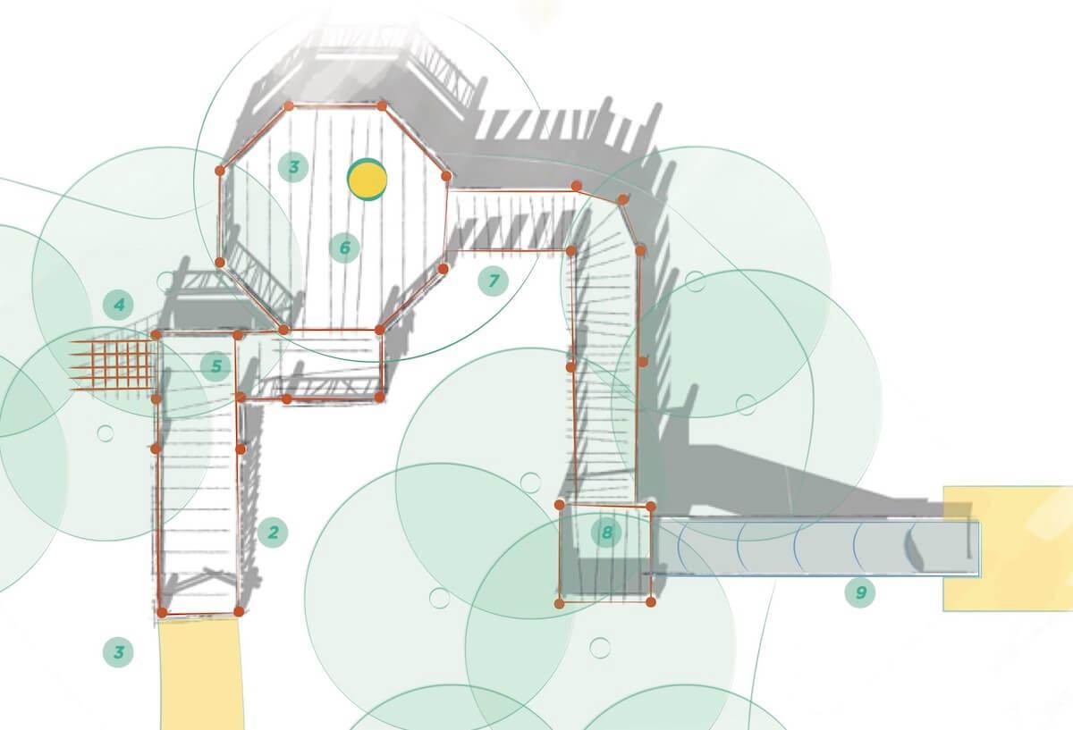 Mundesley School Secret Treehouse overview