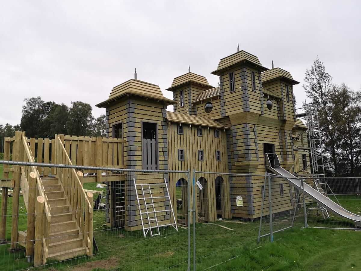 Build is well underway at Crieff Hydro new adventure play