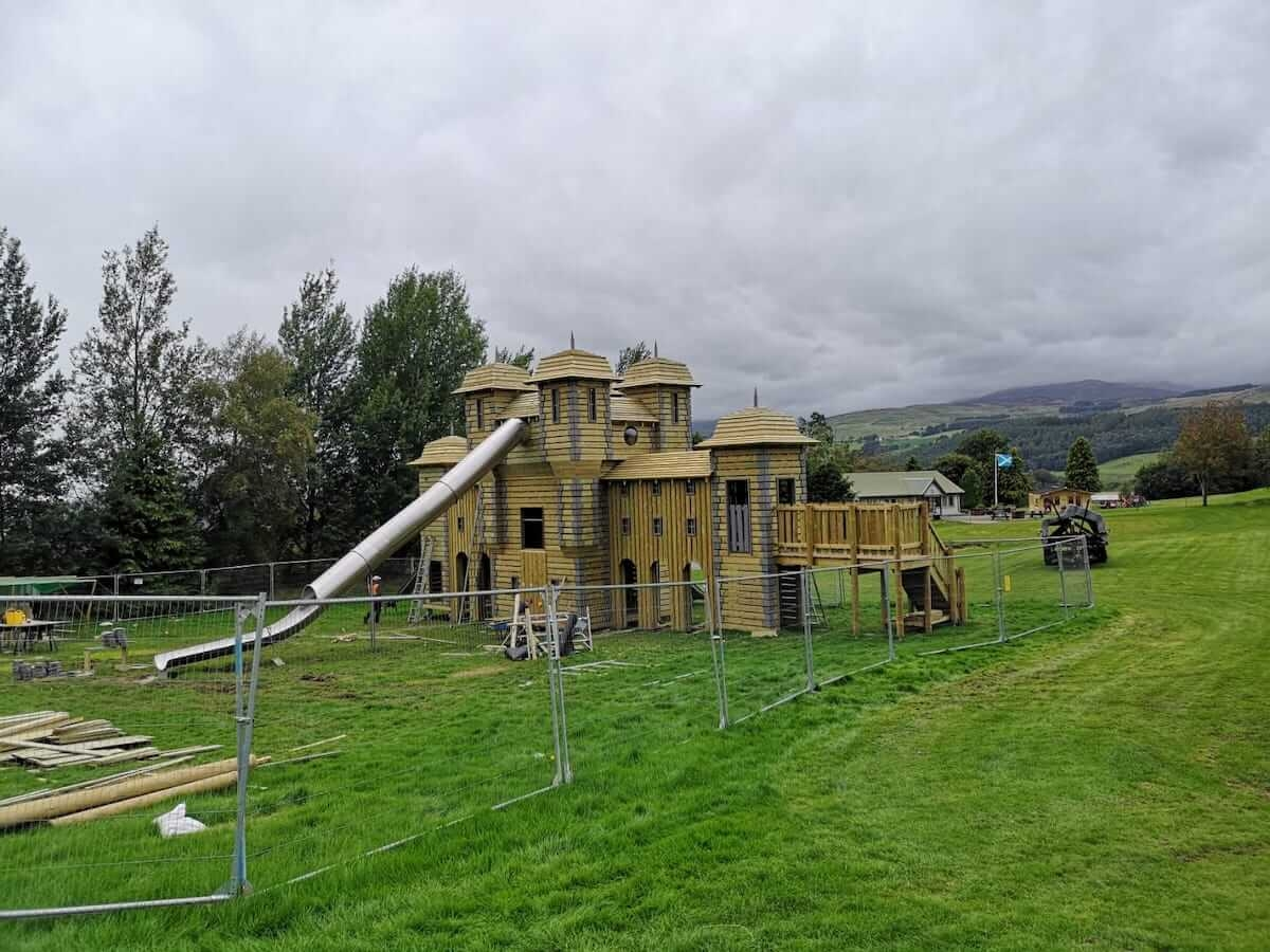 Distant shot of Crieff Hydro new adventure play