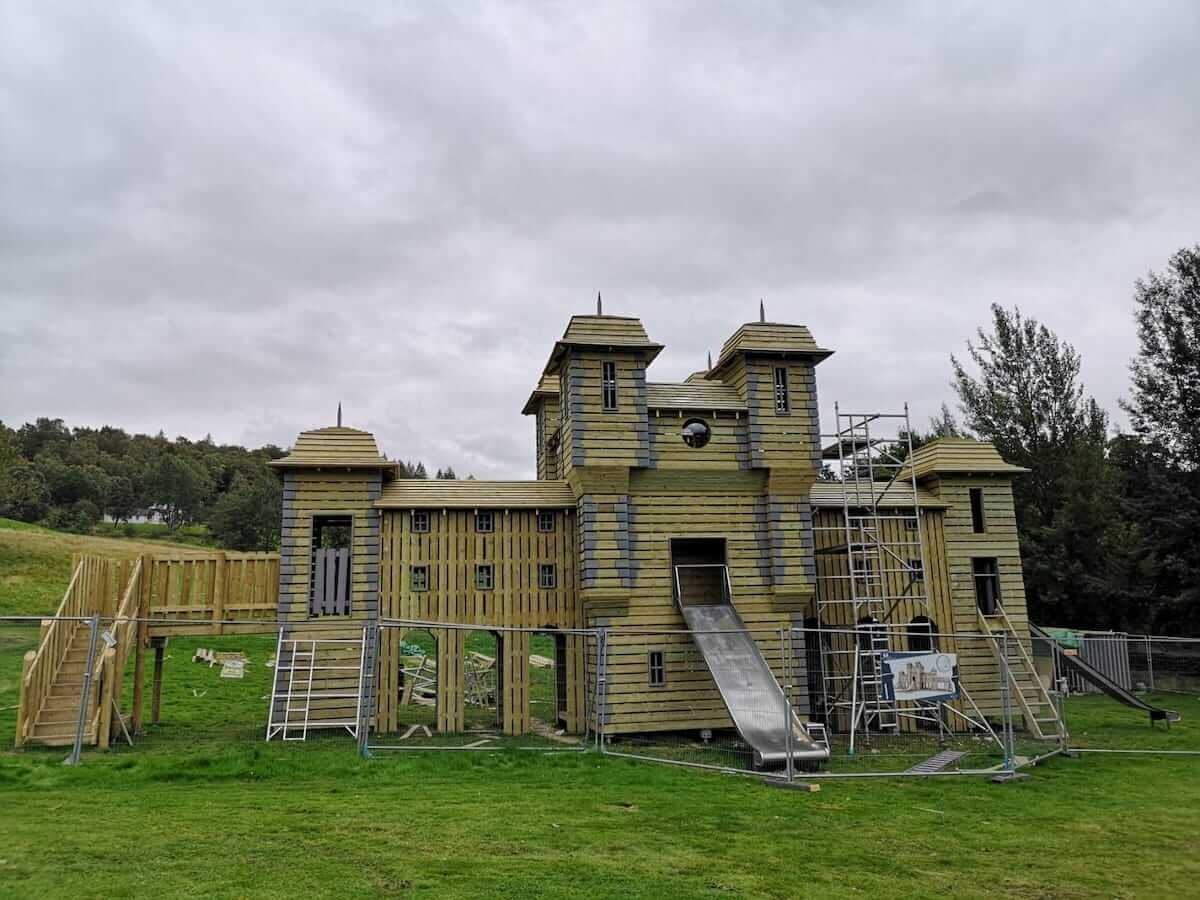 Front of Crieff Hydro new adventure play in build