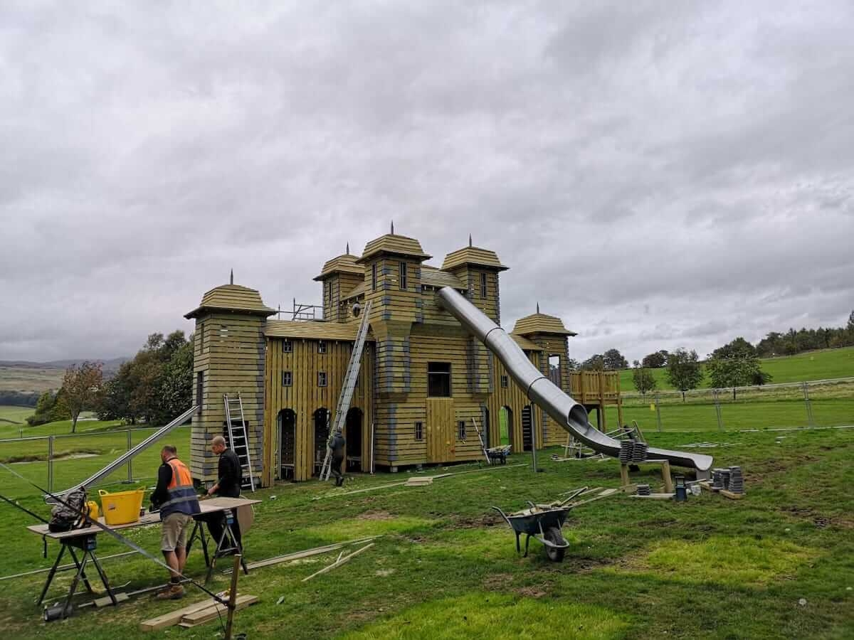 Murky Skies over the build of Crieff Hydro adventure play