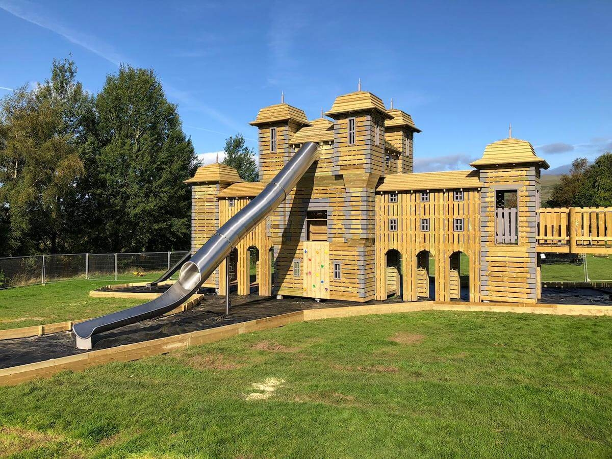 Welcome to the huge slide at Crieff Hydro