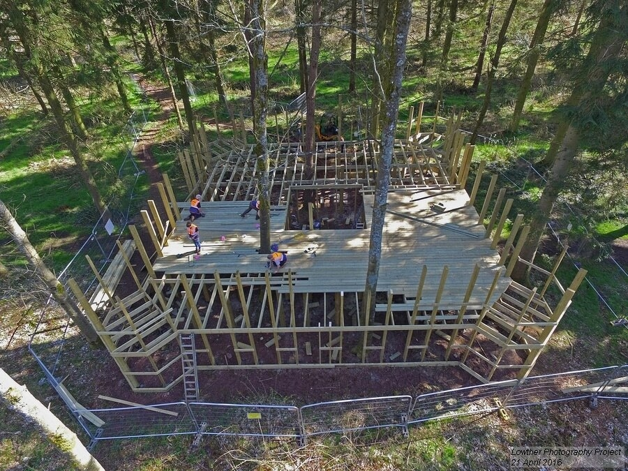 CAPCO build team decking galore Lowther Castle