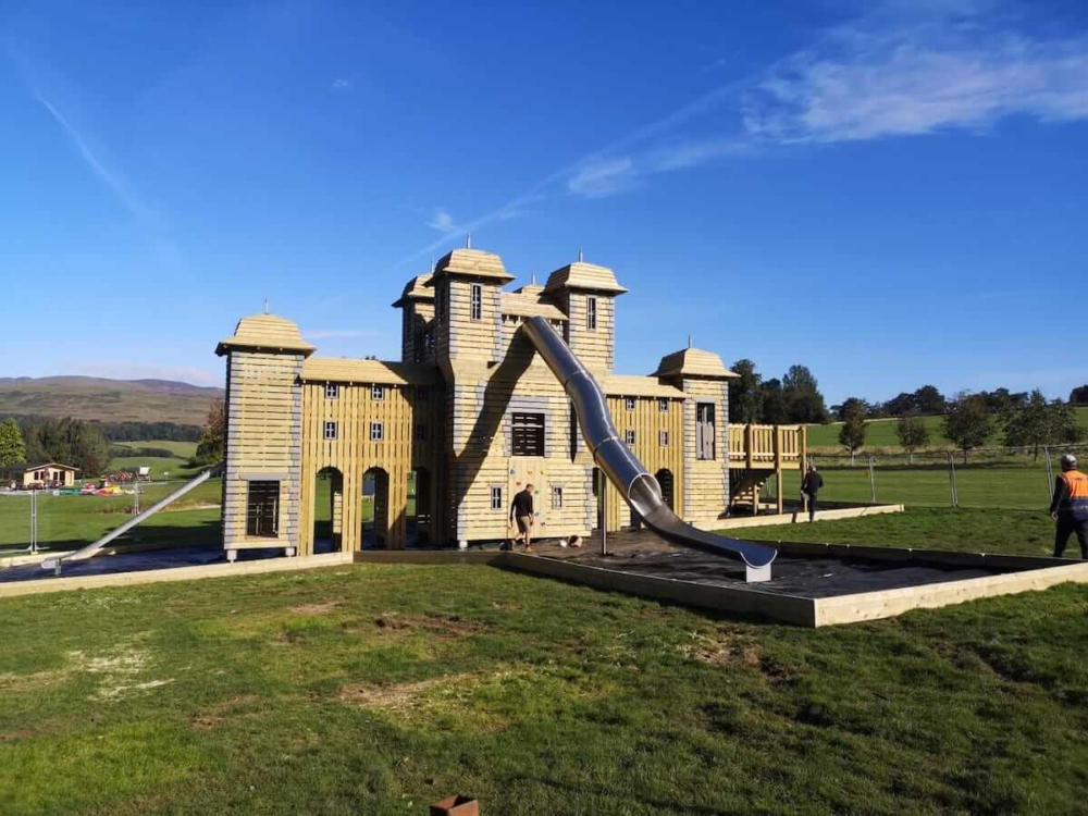 Check out that mega slide at the Crieff Hydro adventure play