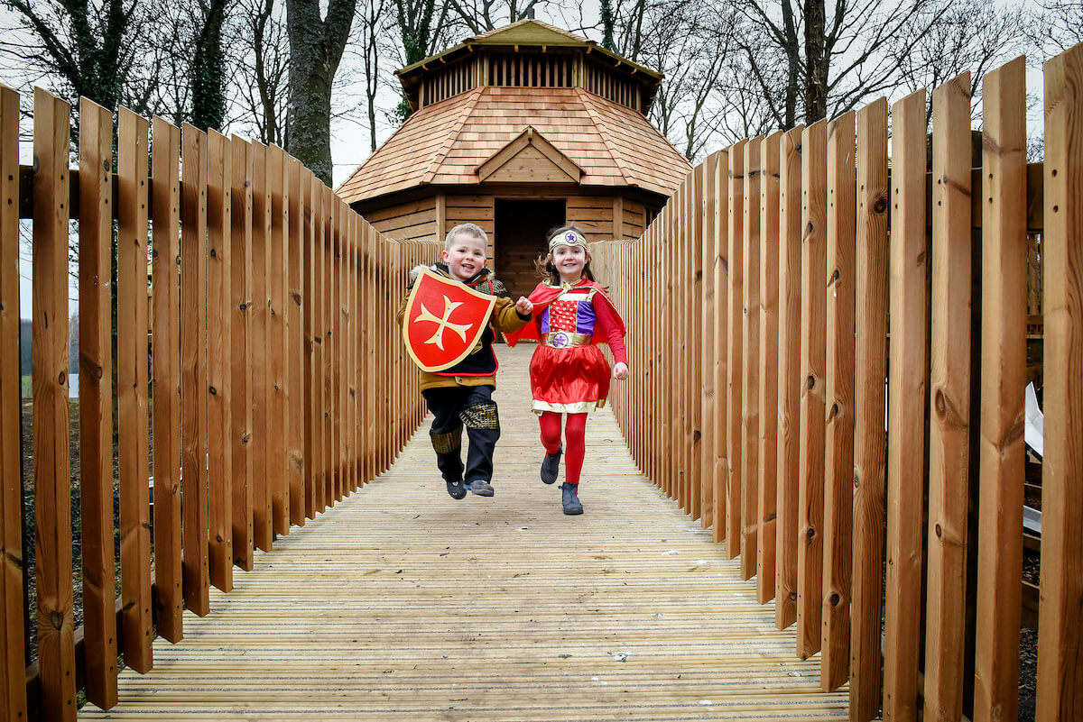 It's all adventure play fun at The Sky Maze at Fort Douglas Dalkeith Country Park by CAP.Co