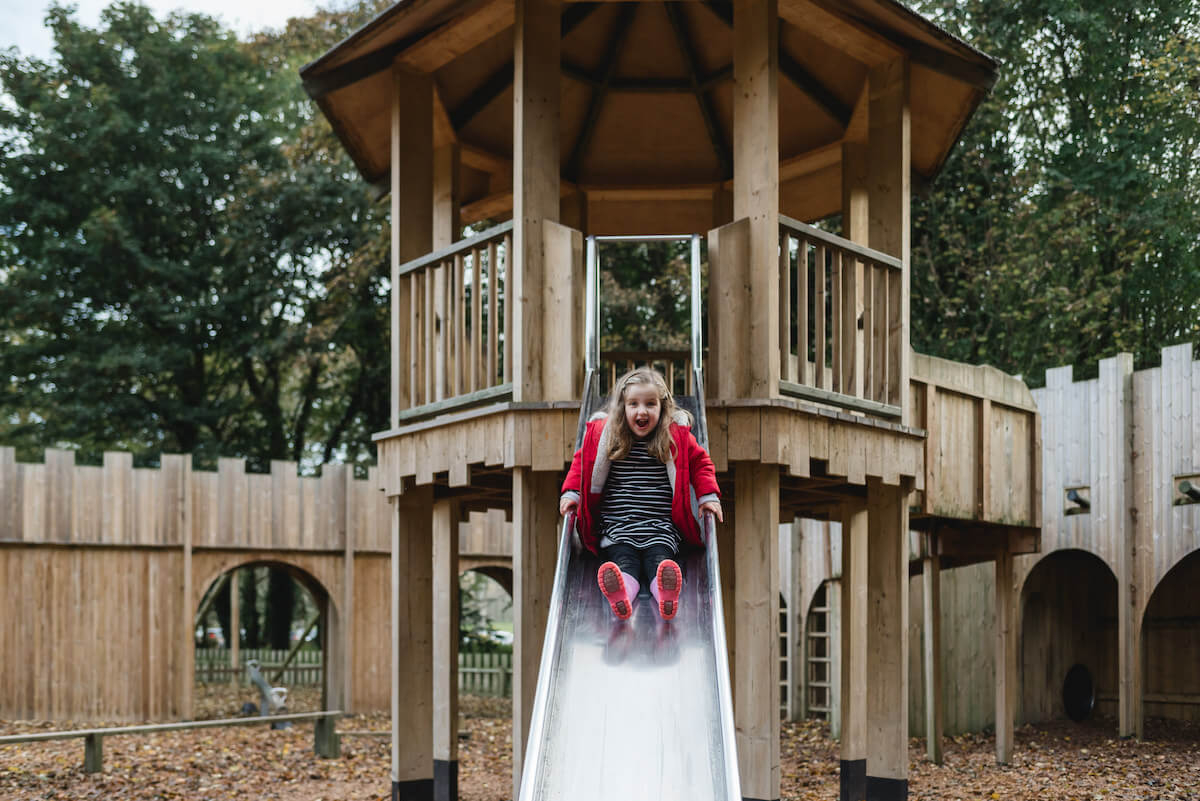 One of the central slides at Culzean Castle Adventure play
