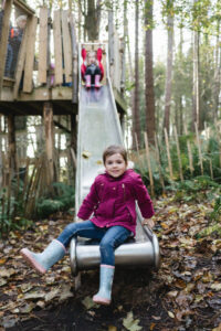 One of the slides at Culzean Castle Adventure play Wild Woodland
