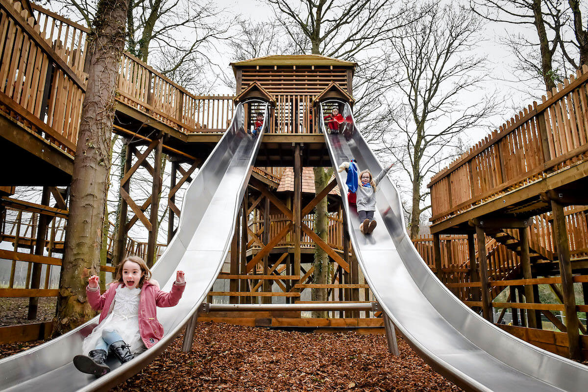 The Twin racing slides completed at Dalkeith