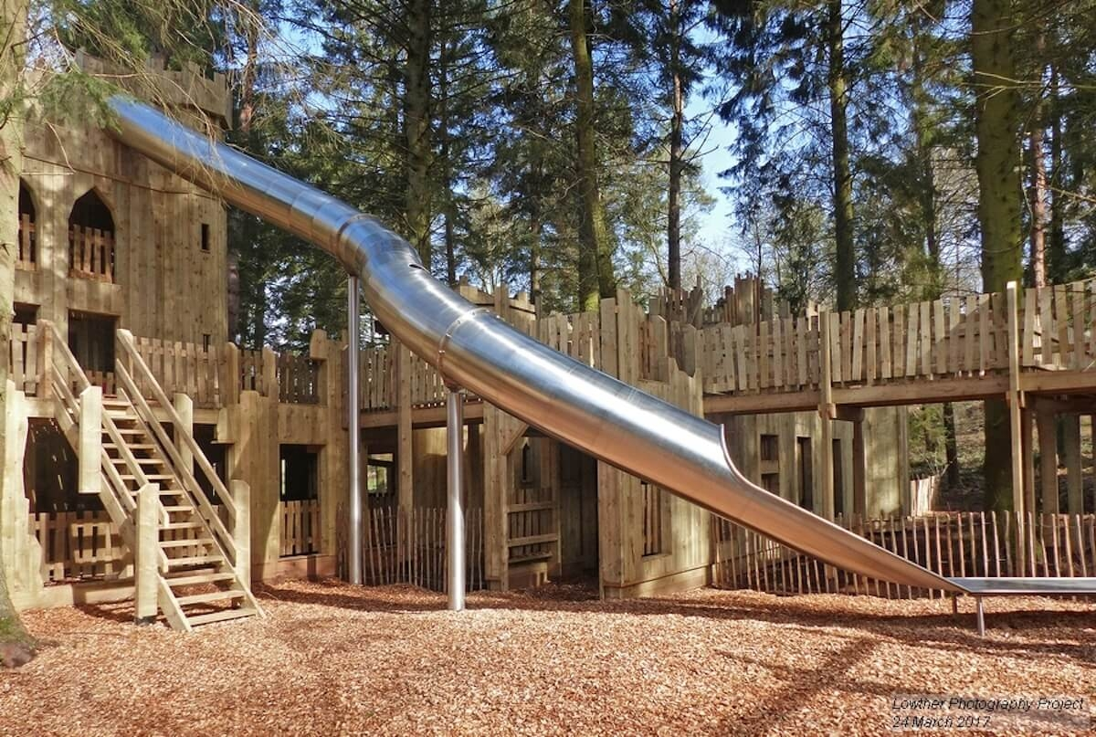 The completed slide at the Lost Castle of Lowther