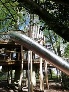 The side of the slide at Fritton lakes fritz Pike Play