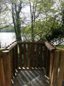 The view from the new lookout platform at Fritton Lakes Fritz Pike Play