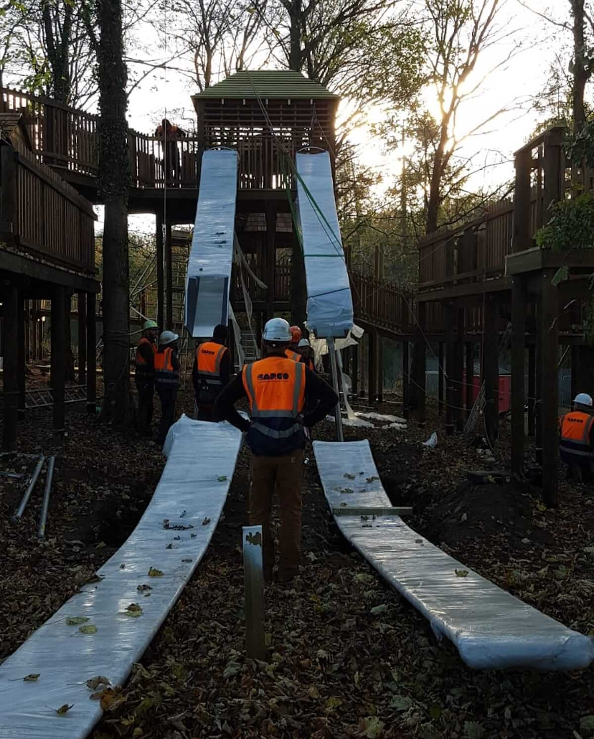 Twin racing slides ready for action at Dalkeith