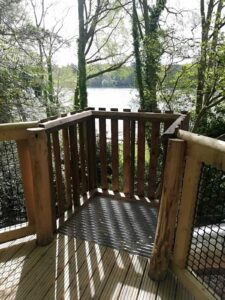You can see right across Fritton Lake from the lookout at at Fritz Pike Play