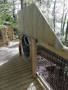 Slide entrance from other side at Fritton lakes Fritz Pike Play