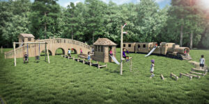 3d view of the play at Audley End Miniature Railway