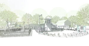 Initial sketch of the play at Audley End Miniature Railway