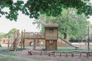 Platform play at Audley End Miniature Railway