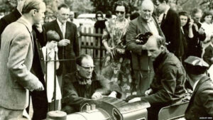 Stirling Moss officially pens the railway in 1964