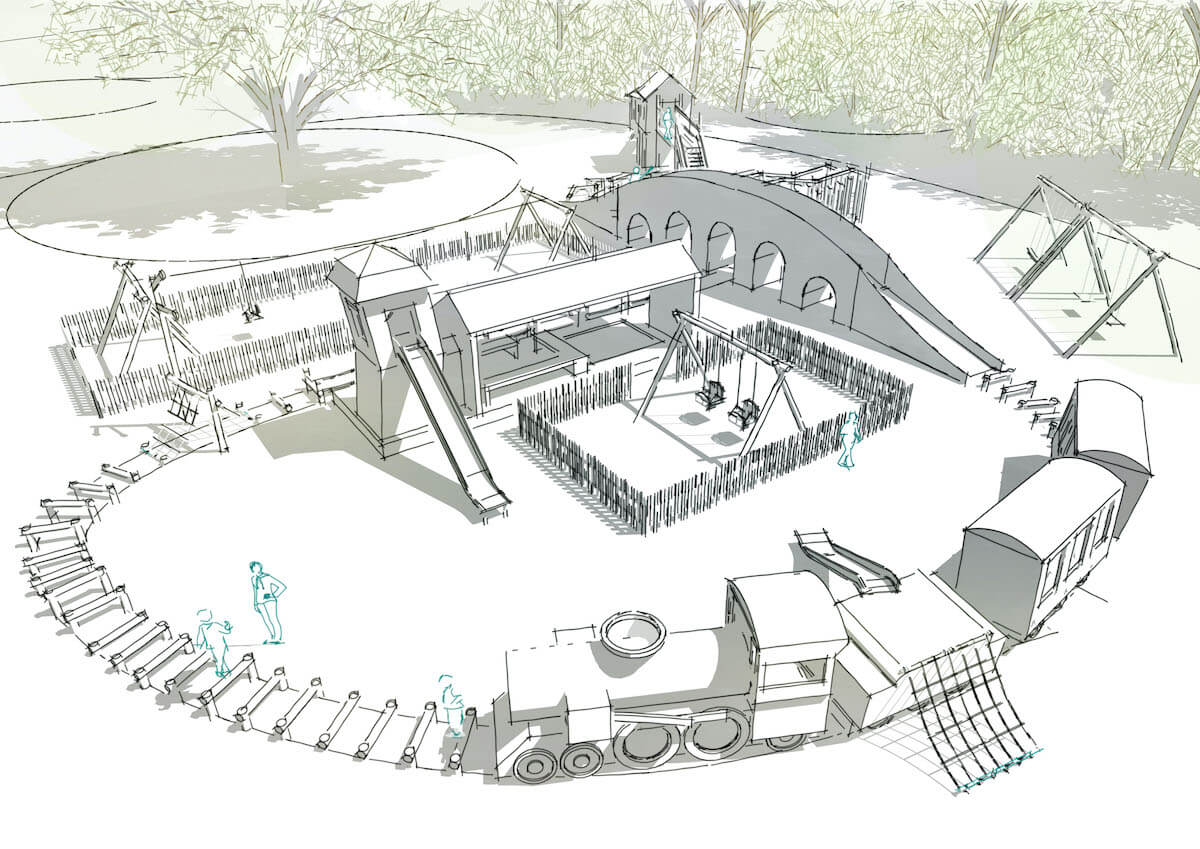The plan for the play starts to take shape at Audley End Miniature Railway