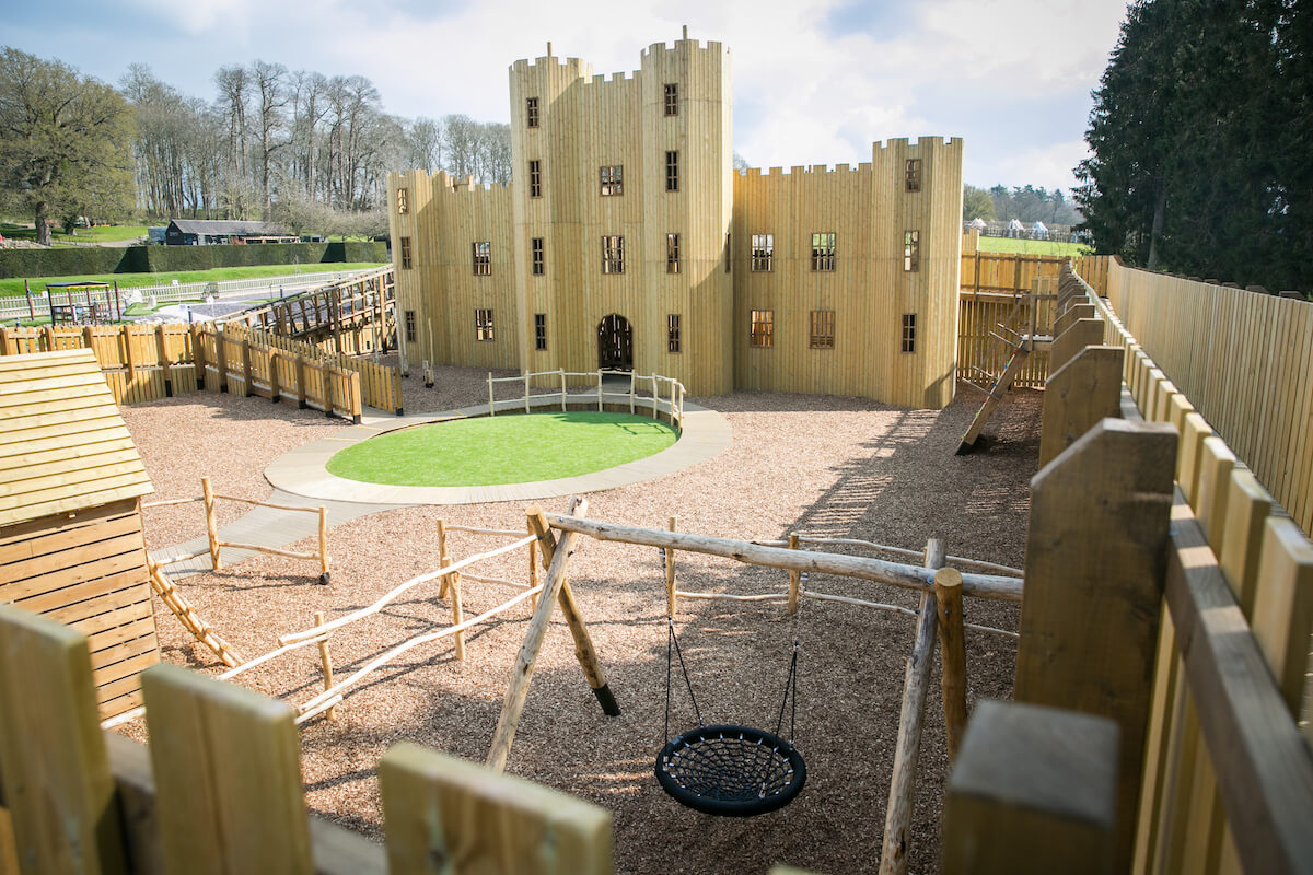 Courtyard area at Knights Stronghold at Leeds Castle Open by CAP.Co Adventure Play