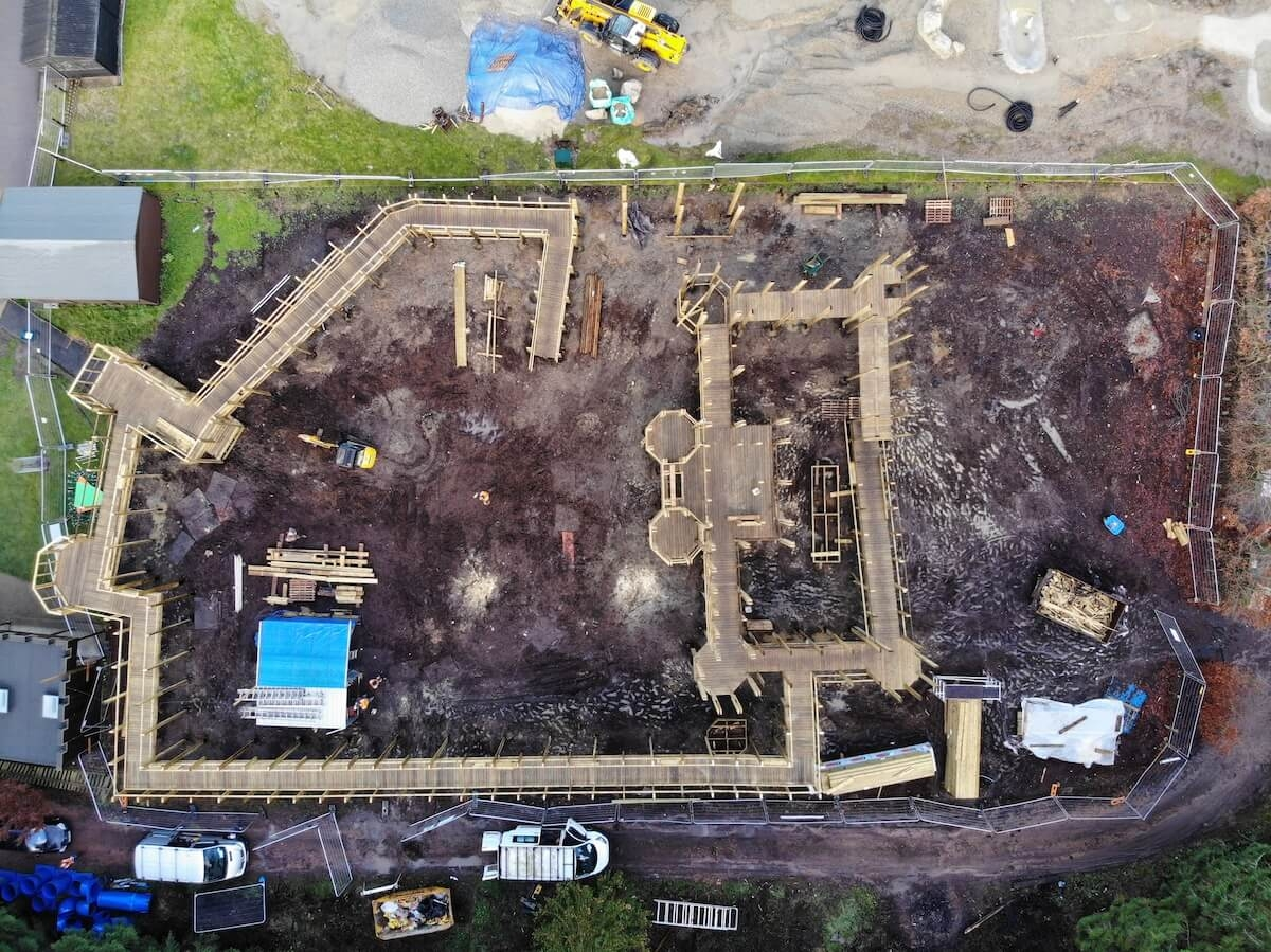 Drone footage of the Knights Stronghold at Leeds Castle in build 2